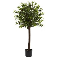 Wholesale 4Ft Olive Topiary Silk Tree, [Decor, Silk Flowers] * To view further for this item, visit the image link.