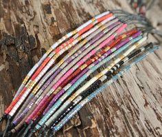 BRACELET MIYUKI KAA  -cute and dainty Beaded Braclets, Bead Loom Bracelets, Jewelry Bracelets, Jewellery, Ribbon Jewelry, Beaded Jewelry Designs, Homemade Bracelets, Diy Jewelry Projects, Bead Earrings