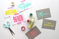 make postcards with stencils cut by a Silhouette