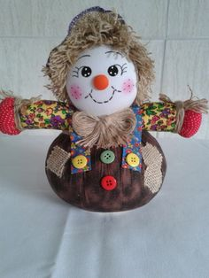 Clown Crafts, Doll Crafts, Sewing Crafts, Christmas Candles, Christmas Crafts, Scarecrow Festival, Diy And Crafts, Crafts For Kids, Craft Projects