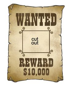Wanted: fun + simple cutouts for your next western themed event. #party #decor #printable I just like this. Would be cute to make big enough to take pics of the kids in the middle. Change the wording to Wanted by Jesus???? Reward. Eternal Life??? Would be awesome!!!
