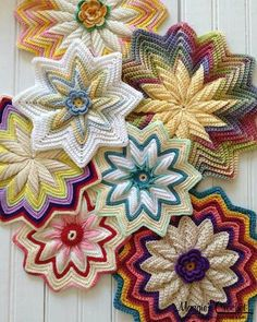 Picture of Scrap Potholders and Mats Set Crochet Pattern                                                                                                                                                      More