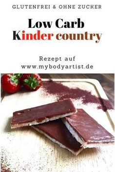 Low Carb Kids Country with only 5 ingredients - www.de- Low Carb Kinder Country mit nur 5 Zutaten – www.de Low Carb Kids Country – gluten free and no sugar …. Low Carb Sweets, Low Carb Desserts, Low Carb Recipes, Lunch Recipes, Weight Loss Meals, Losing Weight, Smoothies Sains, Best Protein Shakes, Paleo Dessert