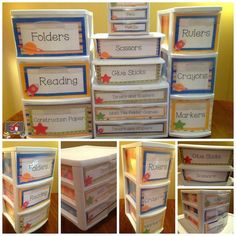 Ideas for storing teaching supplies in your organized classroom stop by and storage diy store teacher Space Theme Classroom, Classroom Organisation, Classroom Environment, Special Education Classroom, Teacher Organization, Future Classroom, School Classroom, Classroom Management, Classroom Decor