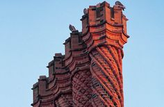 brick Chimney | ... projects > Conservation at Hampton Court Palace > Decorative chimneys