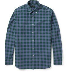 J.Crew - Dobbs Check Washed Cotton Shirt          | MR PORTER