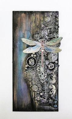 Kalalayaa's art studio: Mixed media wall piece with Black gesso
