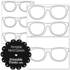 Printable Nerd Glasses from PrintableTreats.com