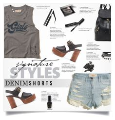 """""""Summer Staple: Denim Cutoffs"""" by smajlovicelvira ❤ liked on Polyvore featuring Hollister Co., See by Chloé, Forever 21, Bobbi Brown Cosmetics and Barry M"""
