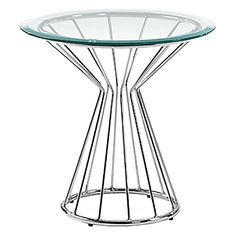 Showcase your décor proudly on the stunning surface of the Cierra Side Table from Vida & Co.