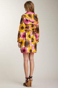 {Waterflower Raincoat in fuchsia} Orla Kiely