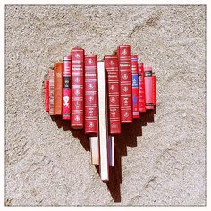 Rhonda Ayliffe does some nice things with books, including this red heart.