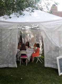 . . . Cabin & Cottage : At The Garden Party  I love this idea!