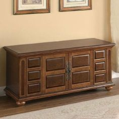 Wood Cedar Lined Storage Chest - Coaster 900062 by Coaster Home Furnishings. $190.57. Brown Finish Storage Chest. Raised panel fronts. Warm brown finish. Wooden framework. Cedar Lined. Simple tops double as additional seating options and lift open to reveal roomy interiors that easily accommodate blankets, bed linens and bulkier clothing items. Place in the hallway or laundry room for convenient coat and shoe storage, tuck in a corner for out of sight storage o...
