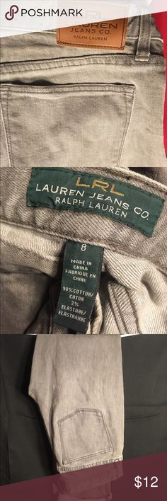 Lauren Ralph Lauren Jeans Moving Sale! Light grey wash LRL jeans. Size 8. Too long for me so I rolled the bottom up. Good condition - hardly worn. 100% authentic. Offers welcomed :) Lauren Ralph Lauren Jeans Boot Cut