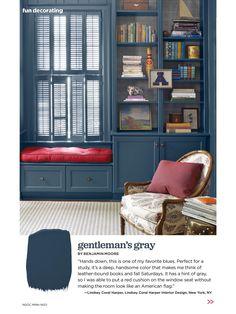 Benjamin Moore Gentleman's Gray navy paint color