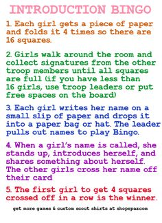 10 Girl Scout Games Leaders Can Use | Shop Spaz Girl Scout Leader Help