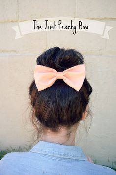 Hey, I found this really awesome Etsy listing at http://www.etsy.com/listing/152309844/peach-colored-hair-bow
