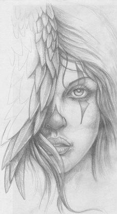 tattoo design 01 by kshandor on DeviantArt Fairy Drawings, Dark Art Drawings, Art Drawings Sketches Simple, Pencil Art Drawings, Prison Drawings, Chicano Drawings, Chicano Art, Arcangel Y Bad Bunny, Dodie Tattoo