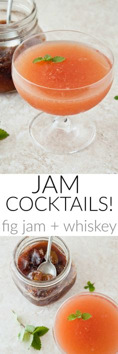 Adding jam to your cocktails makes quick and easy cocktails! Try all sorts of variations!