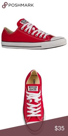 01c051b3d5 Red Low Top Converse Brand new red converse shoes. Never worn. No scuffs