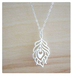 Peacock Necklace  Charm Necklace Jewelry  by hersilverlining, $32.00