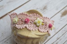 Light Pink Lace with Delicate Flowers and by LauraLeeDesigns108