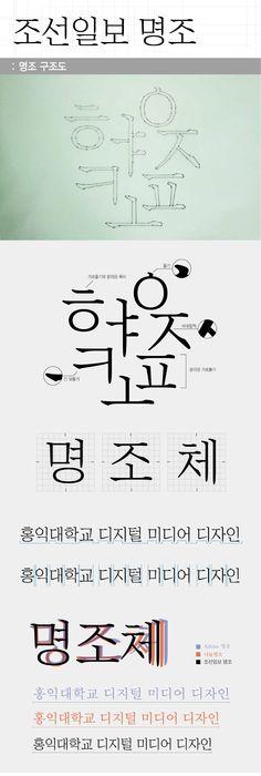 조선일보명조체 / 한글 / Anatomy / Font