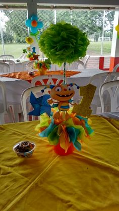 Centros de mesa Henry hugglemoster 1 Year Birthday Party Ideas, Boy Birthday Parties, 5th Birthday, Baby Boy Themes, Party Themes For Boys, Henry Hugglemonster, Monster Party, 1st Birthdays, Birthday Decorations