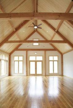 High Ceilings, beams and wood floors