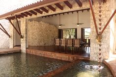 Dominican Republic Home With Private Beach for Sale | Dining pavilion Architectural Digest