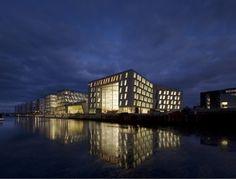 Trippy angles on the facade [ Horten Headquarters / 3XN ]