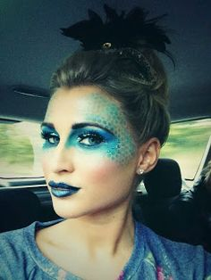 Makeup by Ashley: Billie Faiers - Peacock look - TOWIE Halloween