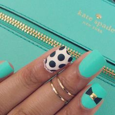"Kate Spade Nail Art Simple nails to match my purse this color is @flossgloss-""Wet"""