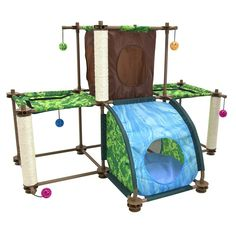 Kitty City Rainforest Tropical Getaway Cat Furniture, Cat Toy and Cat Bed -- Want additional info? Click on the image. (This is an affiliate link) #CatCare