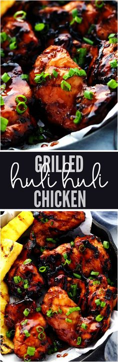 Grilled Huli Huli Chicken is a five star recipe! The marinade is quick and easy and full of such amazing flavor! This Huli H Turkey Recipes, Meat Recipes, Cooking Recipes, Recipes Dinner, Recipies, Zoodle Recipes, Healthy Recipes, Huli Huli Chicken, Huli Huli Sauce