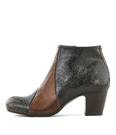 8a25fd4af542dc PANTANETTI-Stiefelette 6699-Women-Schwarz-Braun-Rossi Co  pantanetti   ankleboots  rossiundco  booties  christmas  present  ideas  cracked   leather  black ...