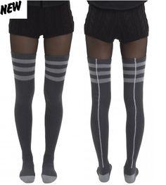 DESCRIPTION  ladies' overknee socks  • thigh lenght• rib at top of sock• Y/D stripe• solid toe and heel• byline logo    QUALITY  cotton/polyamide/elastane mix 70% cotton 25% polyamide 5% elastane