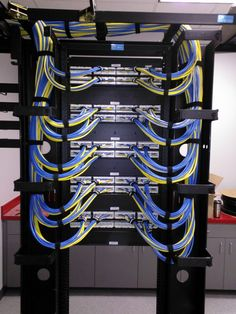 Dual racks Cat6 terminations