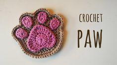 How to crochet a supercute paw print
