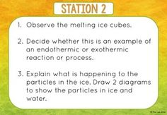 Endothermic Exothermic Reactions Stations by The Lab Exothermic Reaction, Task Cards, Investigations, Worksheets, Teacher, Student, Let It Be, Shit Happens, Learning
