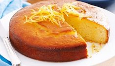 Lemon Yoghurt cake with syrup. The use of yoghurt in this recipe makes for a fluffier baked cake. Lemon Syrup Cake, Lemon Yogurt Cake, Lemon Drizzle Cake, Lemon Recipes, Sweet Recipes, Baking Recipes, Cake Recipes, Dessert Recipes, Food Cakes