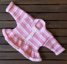 A perfect first fair isle baby knitting pattern for those who would like to try stranded knitting. Knit in Baby soft D.K. yarn on 4mm (UK8-USA6) knitting needles. Pink stripes using: K1, (Yarn A,) K1, (Yarn B,) to create a birds-eye stripe with no strands to get babies fingers