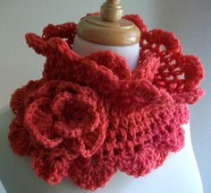 Scarf Scarflette Neck Warmer Cowl Wool Ruffled by needleworx, $30.00 ON ETSY. Persimmon Color, Fall Birthday, Warm Fuzzies, Mother Of Pearl Buttons, Scalloped Edge, Neck Warmer, Hand Knitting, Cowl, Christian