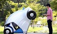 تصاویر خودروی الکتریکی تاشو با لمس تلفن همراه
