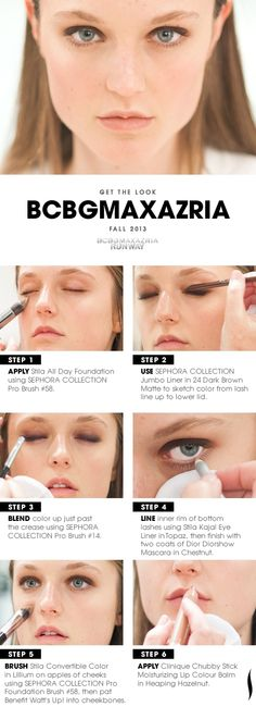*LIVE* from the runway! Get the Look:@BCBG MAX AZRIA Fall 2013 Beauty HOW TO. #Sephora