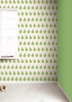 KEK Amsterdam Behang crème/groen Appels 8,3mx47,5cm 4m²
