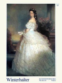 Art Print: Empress Elisabeth Art Print by Franz Xaver Winterhalter by Franz Xaver Winterhalter : 31x24in
