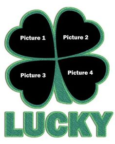Quick and easy St. Patrick's Day craft Lucky Photo and Template  in PhotoShop which you can download!     thediyclub.com/...