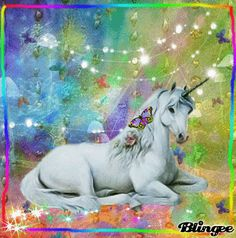 Rainbow Unicorn with Butterflies Unicorn And Fairies, Unicorn Fantasy, Real Unicorn, The Last Unicorn, Unicorns And Mermaids, Unicorn Horse, Unicorn Art, Magical Unicorn, Rainbow Unicorn